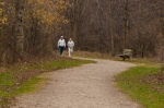 Walkers heading down the trail