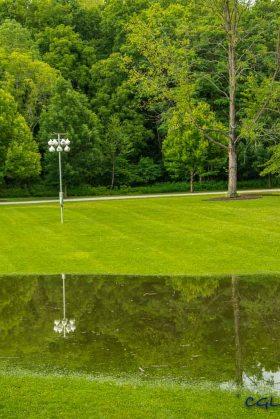 An unplanned water feature