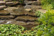Water feature in the Butterfly Garden