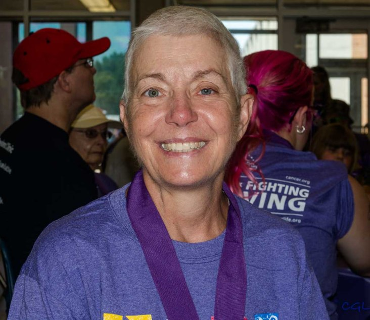 Karen's beautiful smile represents the spirit of Relay for Life.