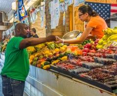 Fruit vendor at Westside Market