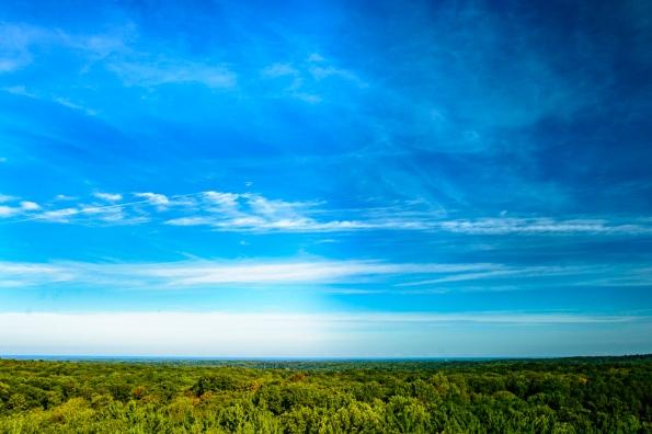 Lake Erie on the horizon
