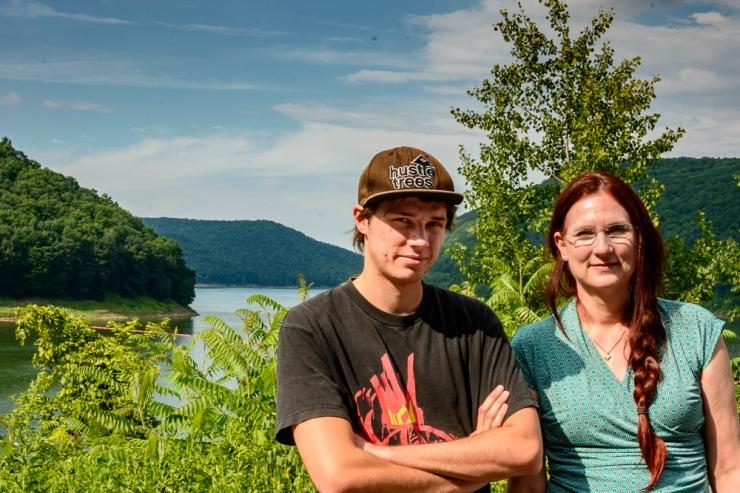 Alec and Gretchen at Allegheny Reservoir