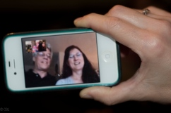 FaceTiming with Gretchen and Rod