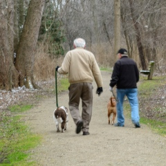 Bob, John, and their dogs