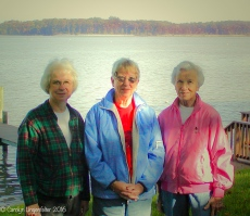 Marjorie, Jean, and me at least 10 years ago