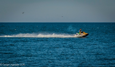 Jet skiers, but no swimmers today)